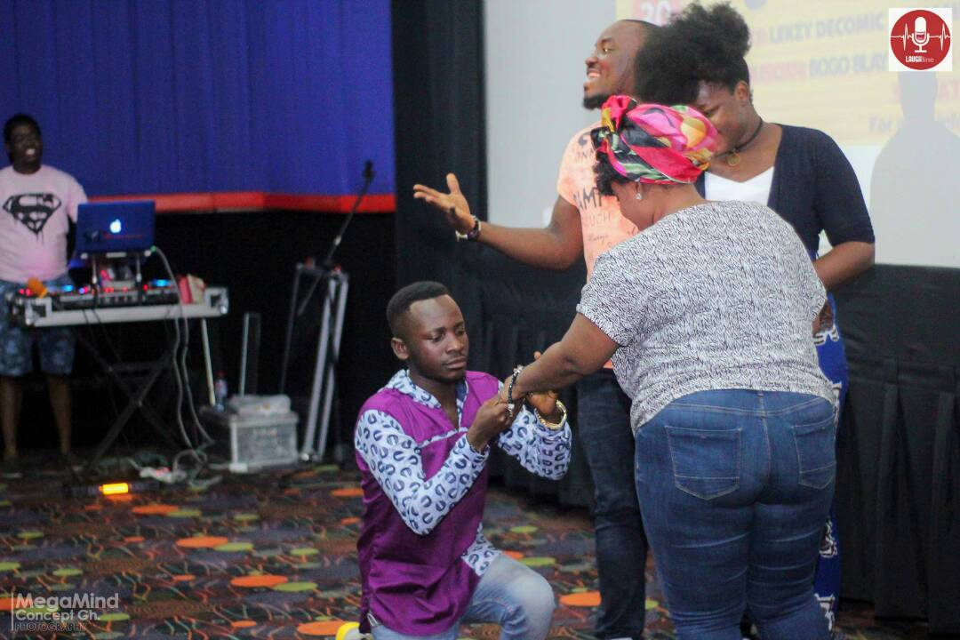 Lekzy proposed to his fellow Comedienne Jacinta in the month February