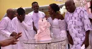 Exclusive Photos: Stonebwoy And Wife Dr. Louisa Ansong Christen Their Daughter