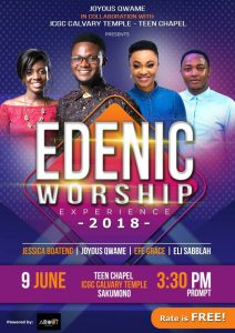 Joyous Qwame's Edenic Worship Experience Set for June 9