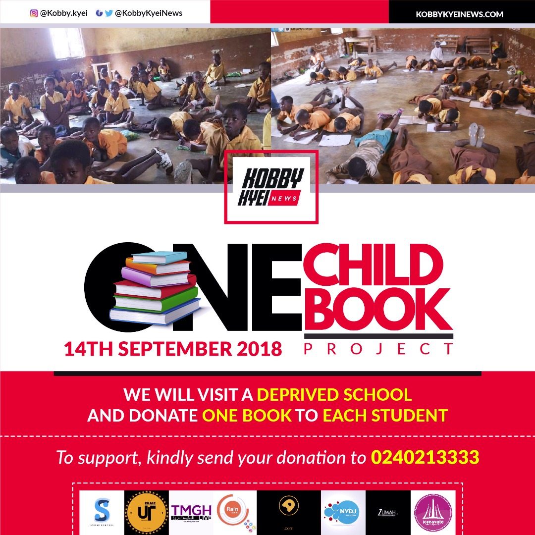 "Blogger Kobby Kyei To Embark On ""One Child One Book"" Project"