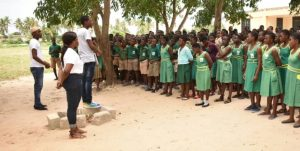 Be A Girl Awards 300 Girls in Ketu South Municipality on 2018 International Day of the Girl Child