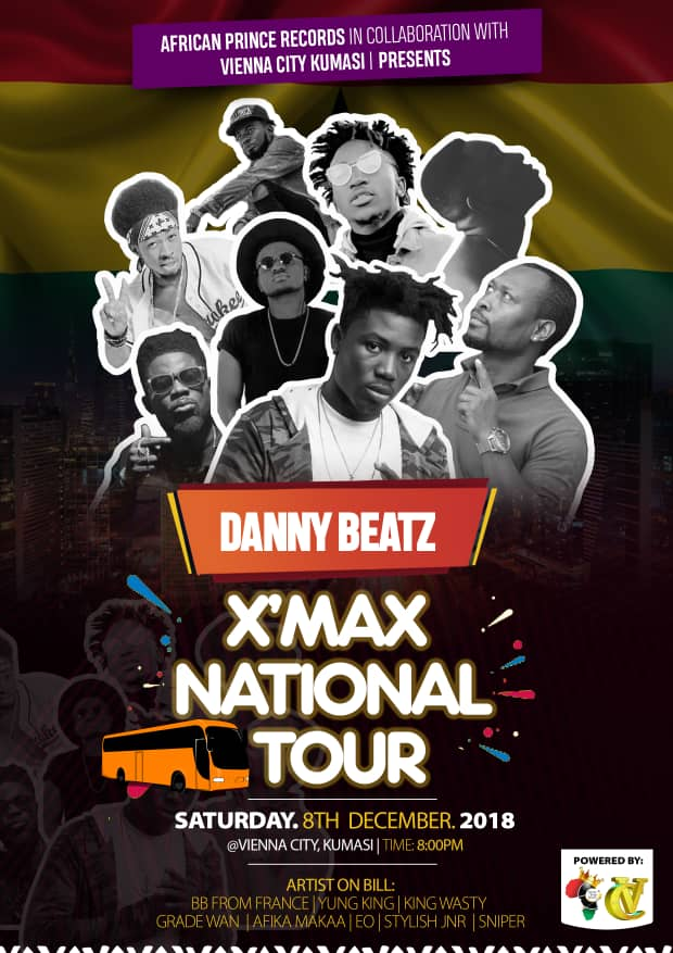 CLUB TOUR: Danny Beatz To Rock Kumasi Vienna City On 8th December.