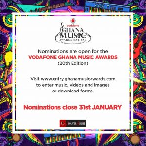 VODAFONE GHANA MUSIC AWARDS OPENS NOMINATIONS FOR SPECIAL ANNIVERSARY EDITION.