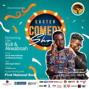Kidi and Akwaboah Lead Musician Cast to Perform At Easter Comedy 2019