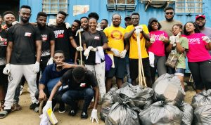Kobbykyeinews and Rotaract Club of Accra Clears Kaneshie Lorry Station off Filth with Sanitation Campaign