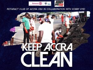 "Rotaract Club of Accra in Collaboration with Kobbykyeinews to embark on project and ""Keep Accra Clean"" at the Kaneshie Lorry Park"
