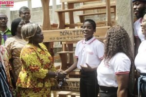 DJ Switch and her Foundation Presents Furniture to School