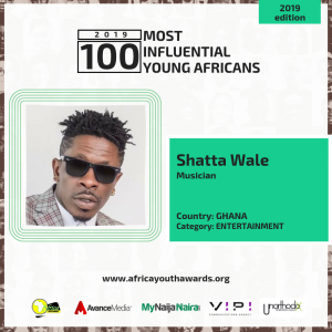 Shatta Wale, GuiltyBeatz, Kojo Oppong Nkrumah named among 2019 100 Most Influential Young Africans