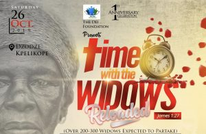 The Dei Foundation to mark 1st Anniversary with Time with the Widows Reloaded