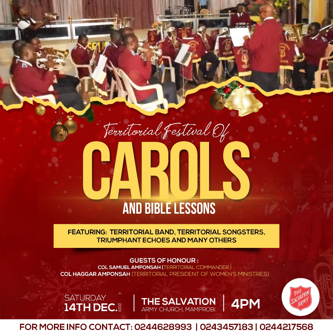 Territorial Carol Service Coming Up