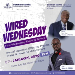 "It's ""Wired Wednesday"" at Dominion Centre in London with Rev. Sam Ohene-Apraku"